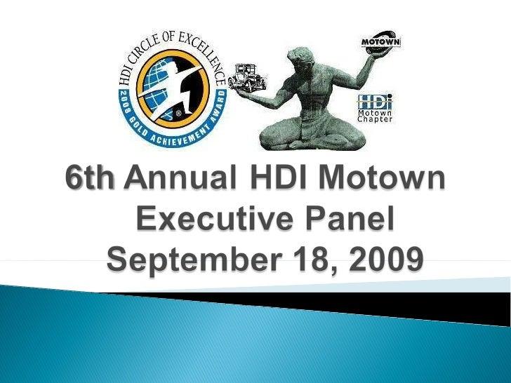 Sept2009 HDI Motown Exec Panel