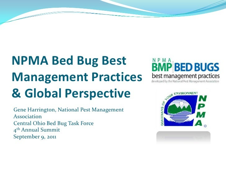 5 NPMA Bed Bug Best Management Practices & Global Perspective