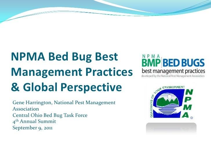 5 NPMA Bed Bug Best Management Practices & Global Perspective