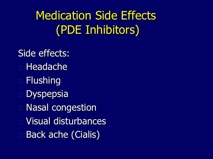Medications Side Effects Of Cialis