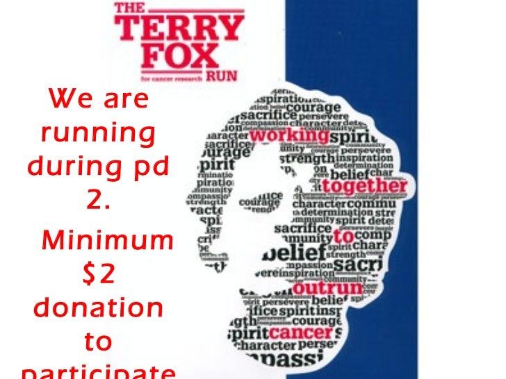We are runningduring pd    2. Minimum   $2donation    to