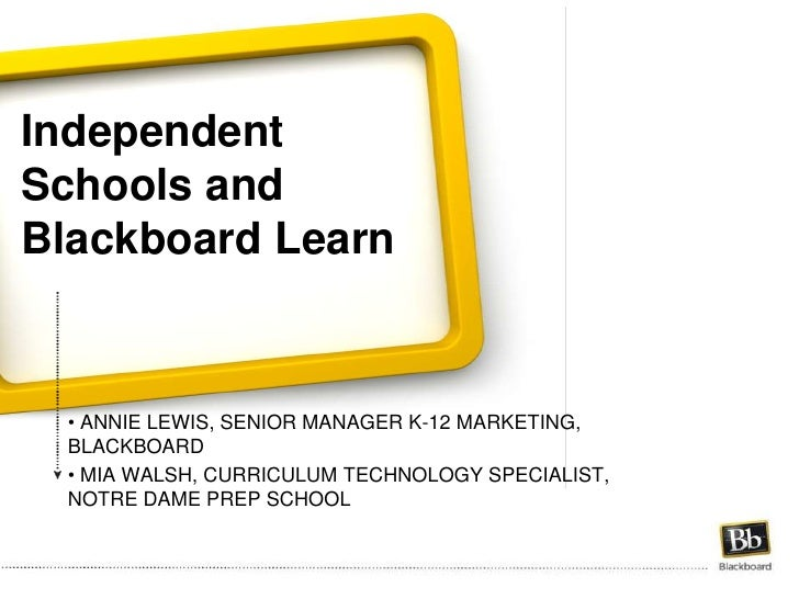 Independent Schools and Blackboard Learn