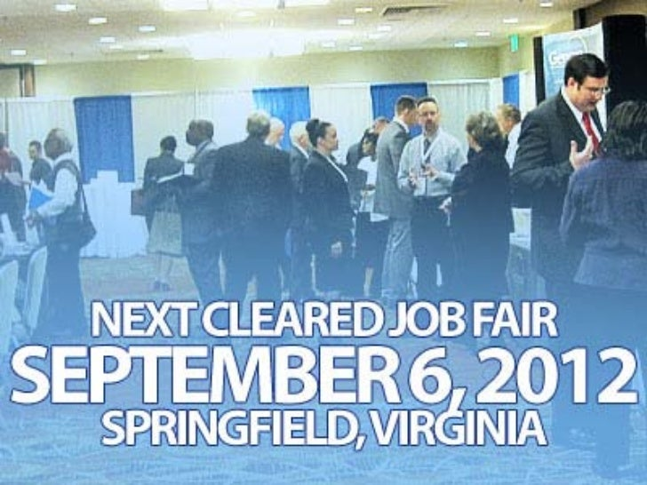 Career Support Seminars at Sept 6 Cleared Job Fair
