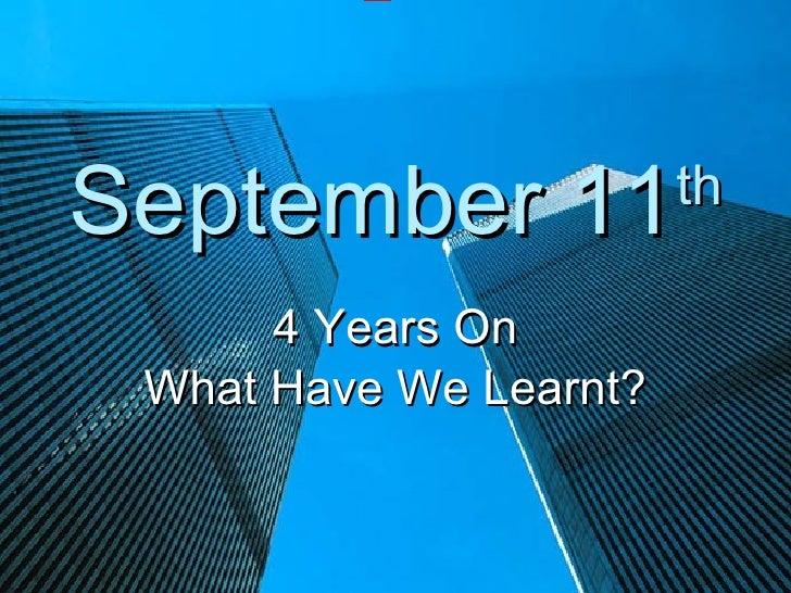 September 11th Assembly