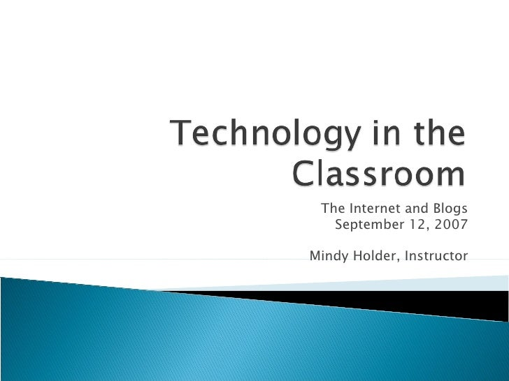 Technology in the Classroom - September 12th