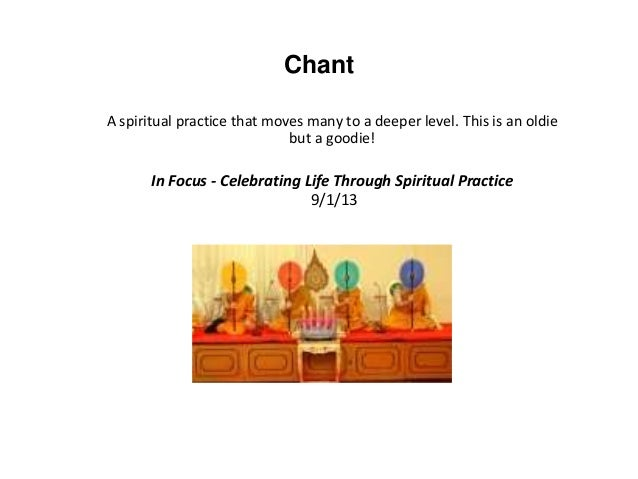 In Focus - September - Celebrating Life Through Spiritual Practice