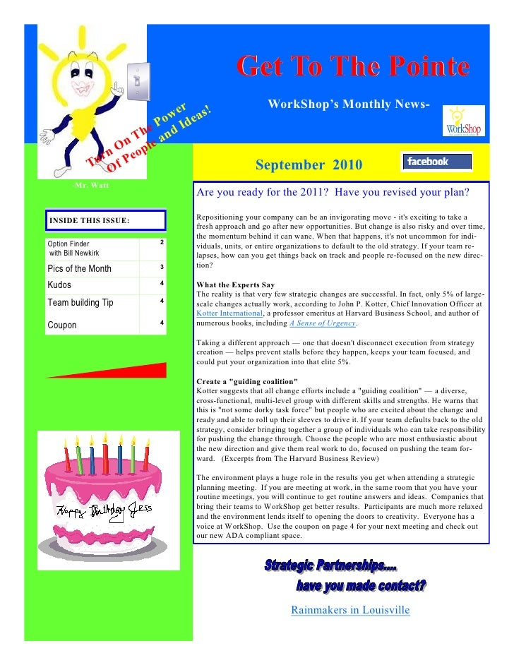 Get To The Pointe                              er    !                   WorkShop's Monthly News-                         ...