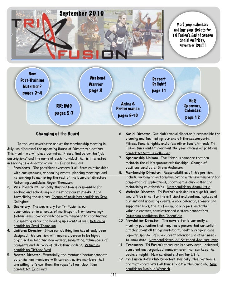 TriFusion Newsletter - Sept.'10