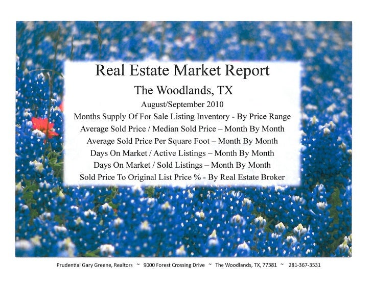 September 2010 Market Reports for The Woodlands, Texas