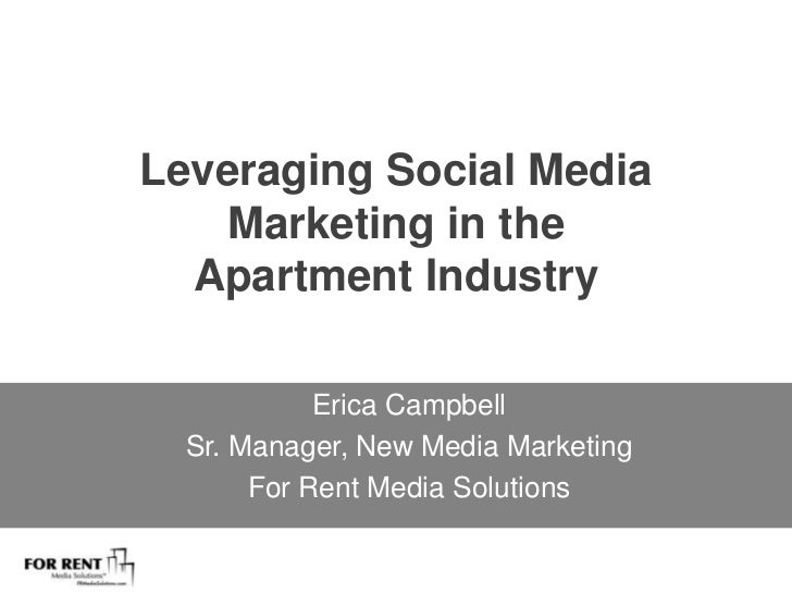Leveraging Social Media Marketing in the Apartment Industry