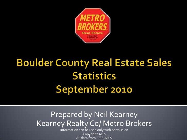 Boulder Real Estate - September 2010 statistics