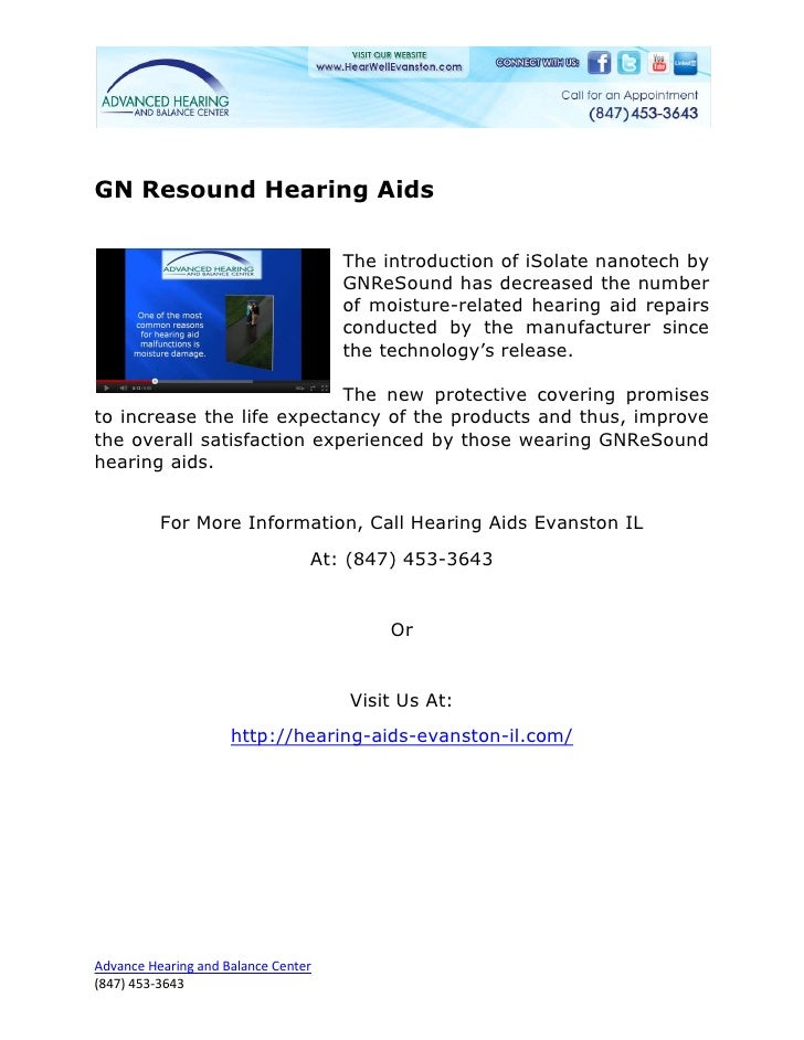 GN Resound Hearing Aids                                     The introduction of iSolate nanotech by                       ...