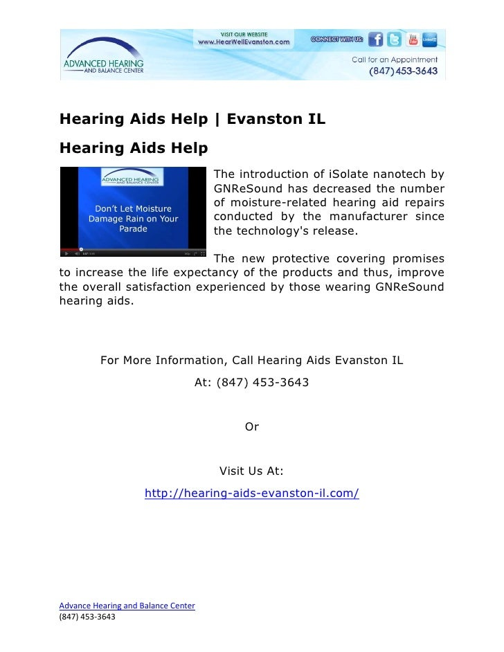 Hearing Aids Help | Evanston ILHearing Aids Help                                     The introduction of iSolate nanotech ...