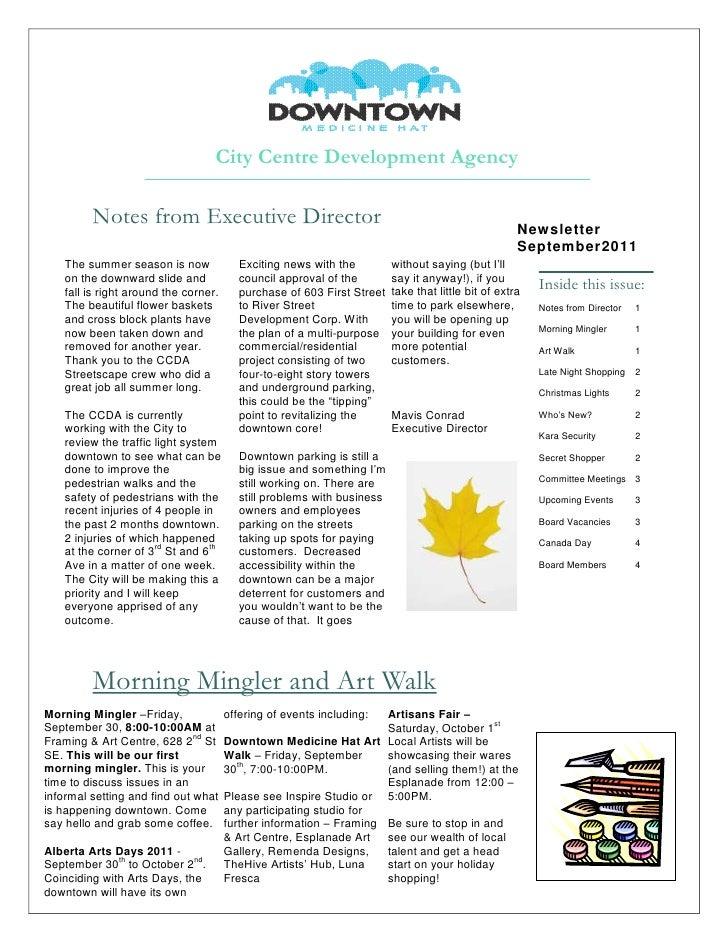 Newsletter - September 2011