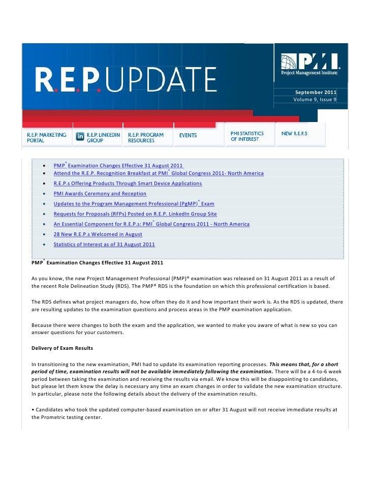 R.E.P Update