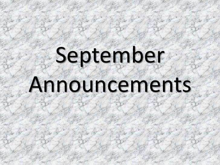 SeptemberAnnouncements