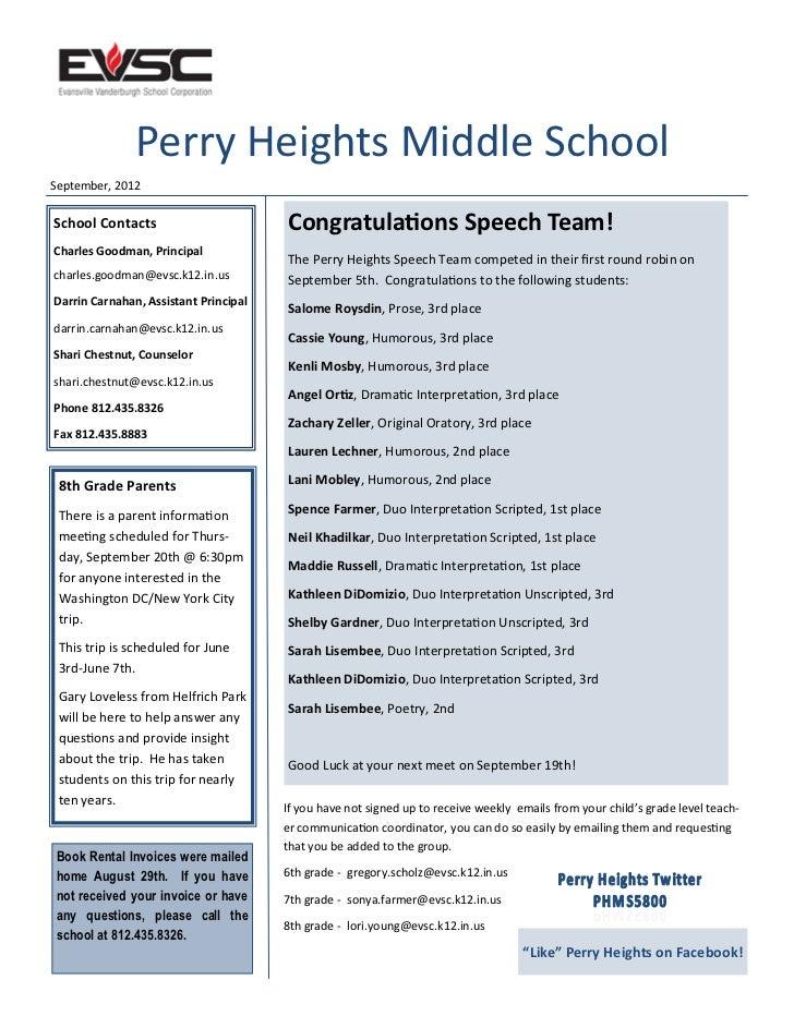 PHMS September 2012 Newsletter