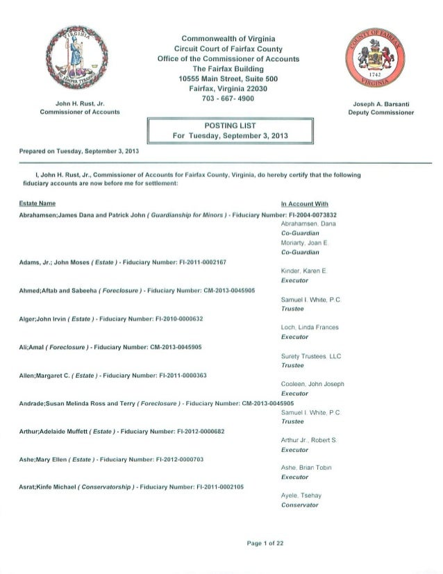 September 2013 Posting List