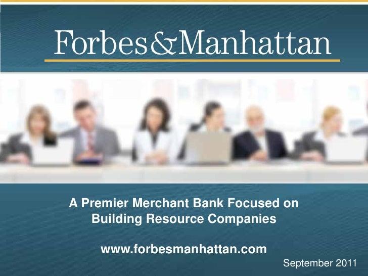 F&M Corporate Presentation September 2011