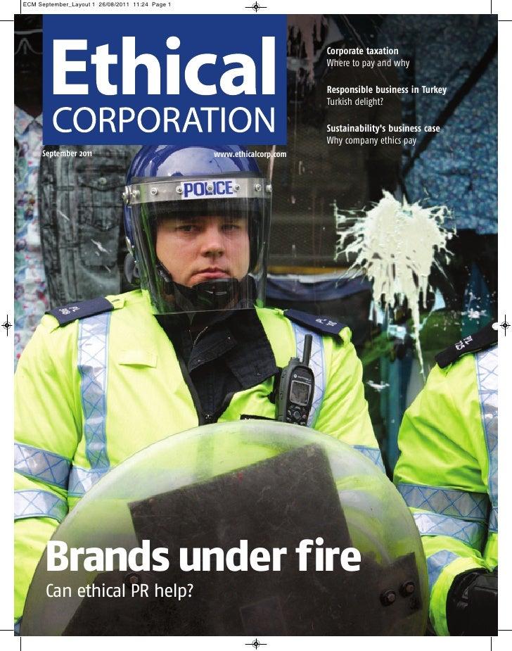 September Ethical Corporation magazine - Part 1