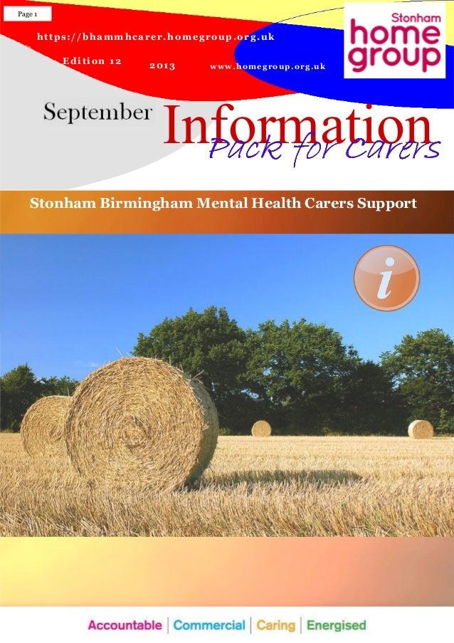 https://bhammhcarer.homegroup.org.uk www.homegroup.org.uk Edition 12 2013 Information Page 1 Pack for CarersPack for Carer...