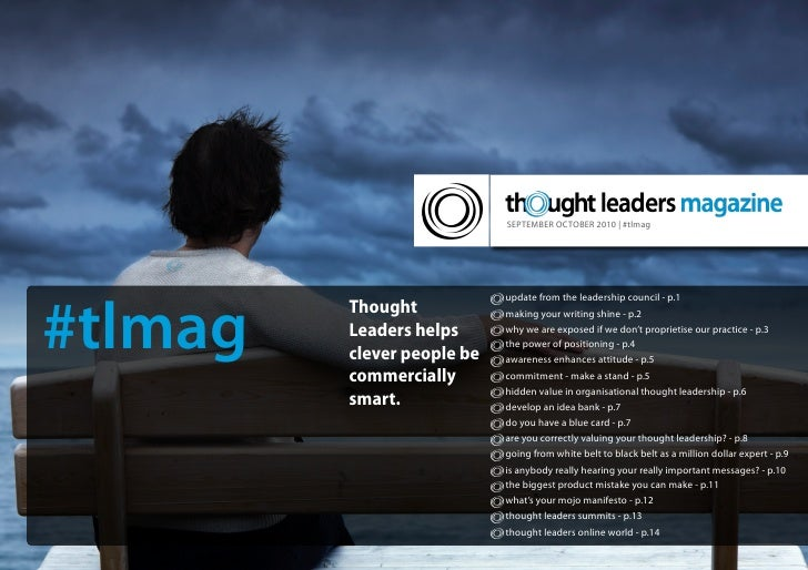 Thought Leaders Magazine | Issue 4 | Sept Oct 2010