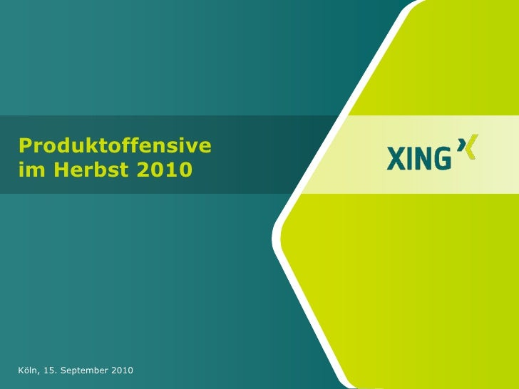 XING Produktoffensive im Herbst