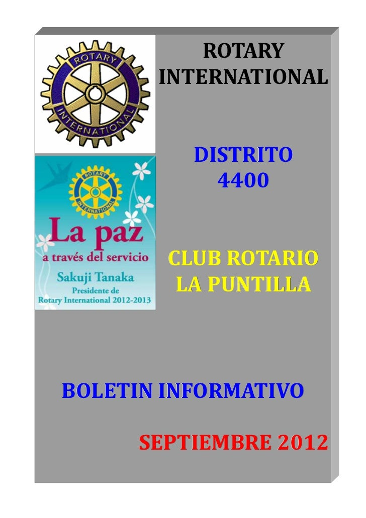 ROTARY       INTERNATIONAL          DISTRITO            4400        CLUB ROTARIO         LA PUNTILLABOLETIN INFORMATIVO   ...