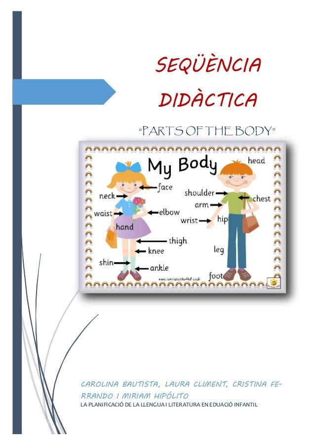 "SEQÜÈNCIA DIDÀCTICA ""PARTS OF THE BODY""  CAROLINA BAUTISTA, LAURA CLIMENT, CRISTINA FERRANDO I MIRIAM HIPÓLITO LA PLANIFIC..."
