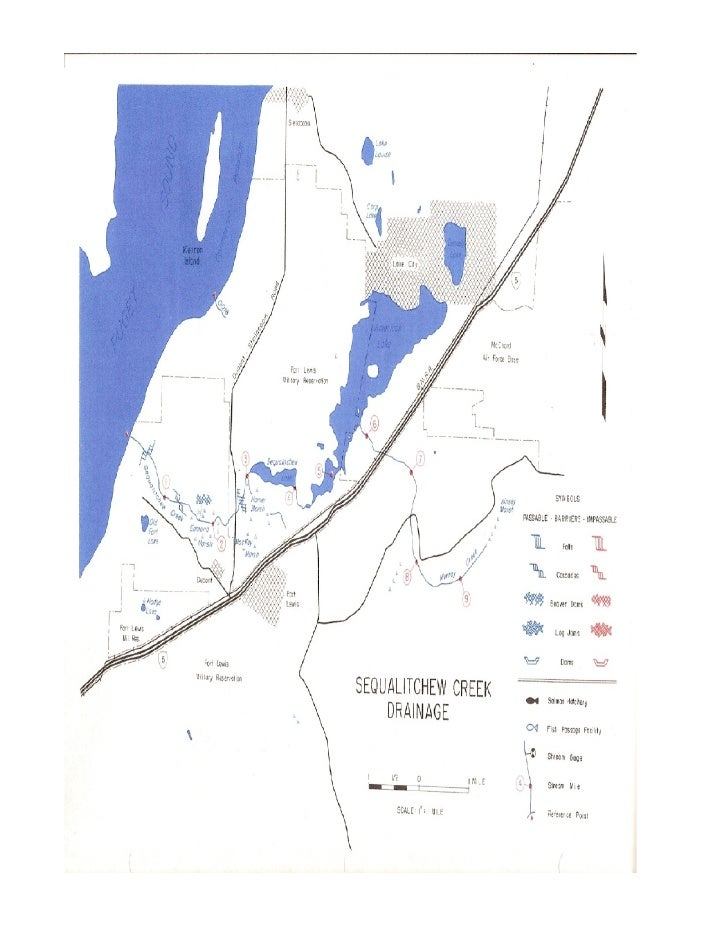 Sequalitchew creek watershed drainage map