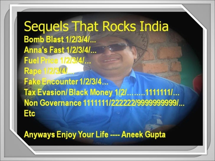Sequels That Rocks India -- Aneek Gupta