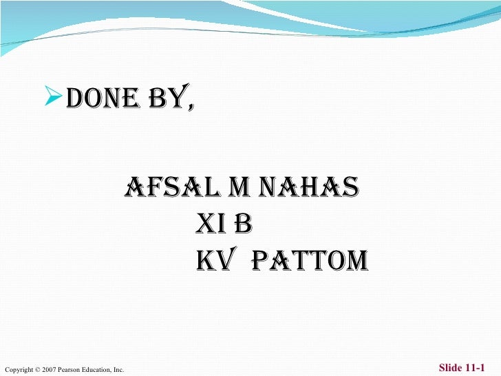 DONE BY,                                              AFSAL M NAHAS                                                XI B  ...