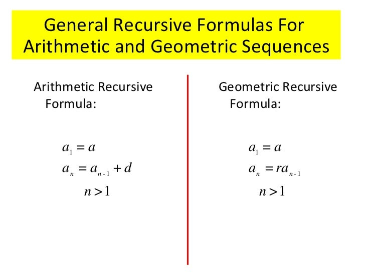 Evaluating sequences in recursive form