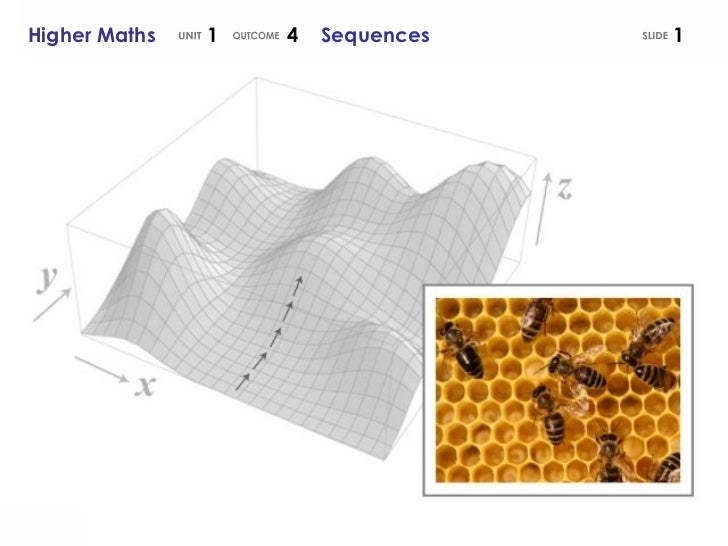 Higher Maths  1  4  Sequences UNIT OUTCOME SLIDE
