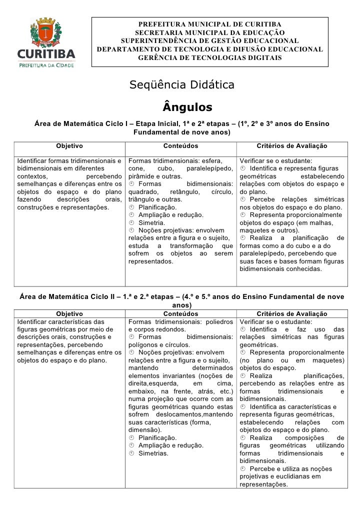 PREFEITURA MUNICIPAL DE CURITIBA                                     SECRETARIA MUNICIPAL DA EDUCAÇÃO                     ...