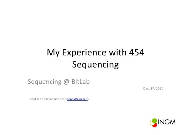Sequencing @ BitLab