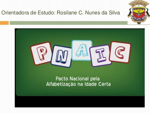 Orientadora de Estudo: Rosilane C. Nunes da Silva