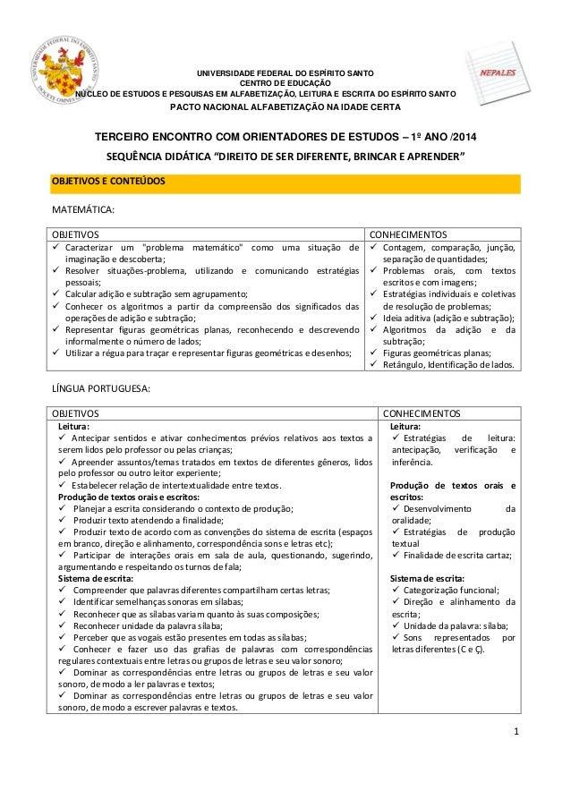 1 UNIVERSIDADE FEDERAL DO ESPÍRITO SANTO CENTRO DE EDUCAÇÃO NÚCLEO DE ESTUDOS E PESQUISAS EM ALFABETIZAÇÃO, LEITURA E ESCR...