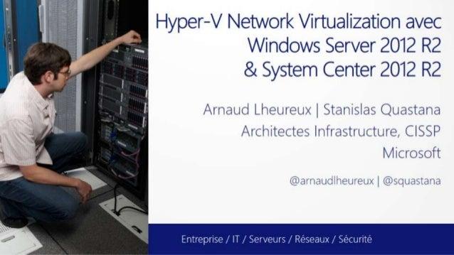 Hyper-V Network Virtualization dans WS2012 R2 et SC2012R2