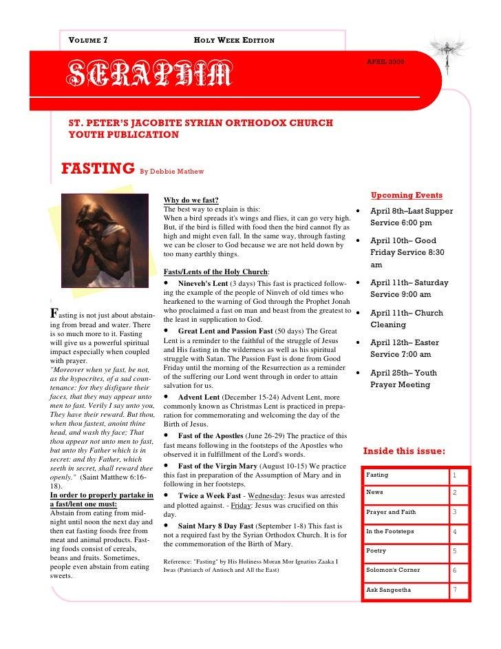 VOLUME 7                                  HOLY WEEK EDITION                                                               ...