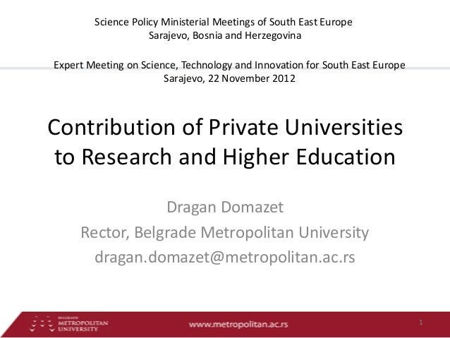 Science Policy Ministerial Meetings of South East Europe                    Sarajevo, Bosnia and HerzegovinaExpert Meeting...