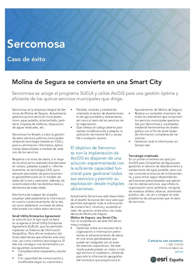 Molina de Segura se convierte en Smart City con Sercomosa y Esri
