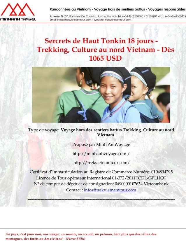 Sercrets de Haut Tonkin 18 jours -Trekking, Culture au nord Vietnam - Dès1065 USDType de voyage: Voyage hors des sentiers ...