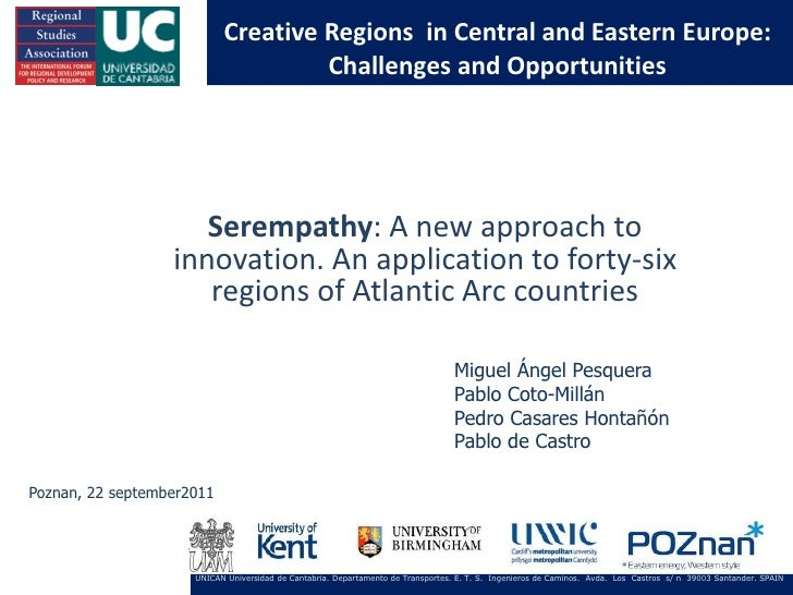 Serempathy a new approach to innovation. an application to forty six regions of atlantic arc countries