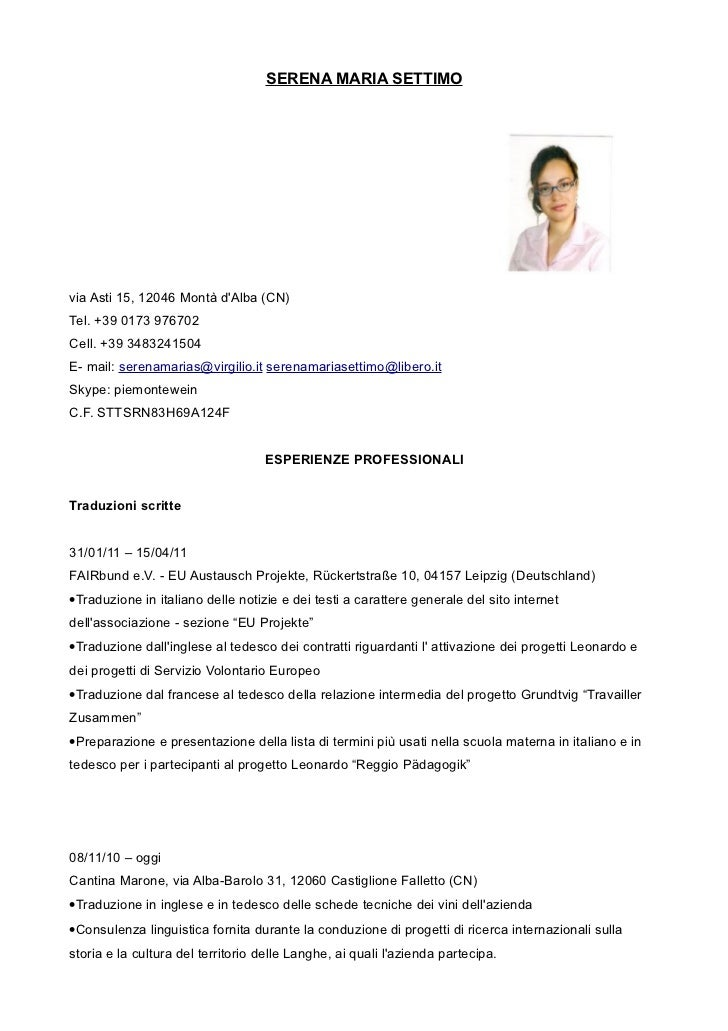 SERENA MARIA SETTIMOvia Asti 15, 12046 Montà dAlba (CN)Tel. +39 0173 976702Cell. +39 3483241504E- mail: serenamarias@virgi...