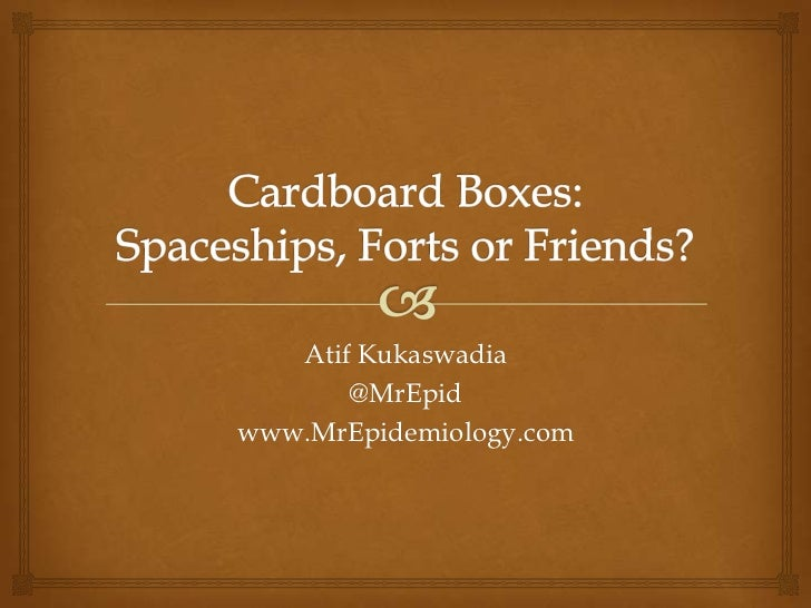 Serendipity Hall - Cardboard Boxes