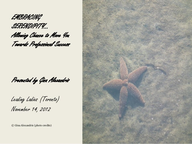 Serendipity presentationnov2012 gina.a