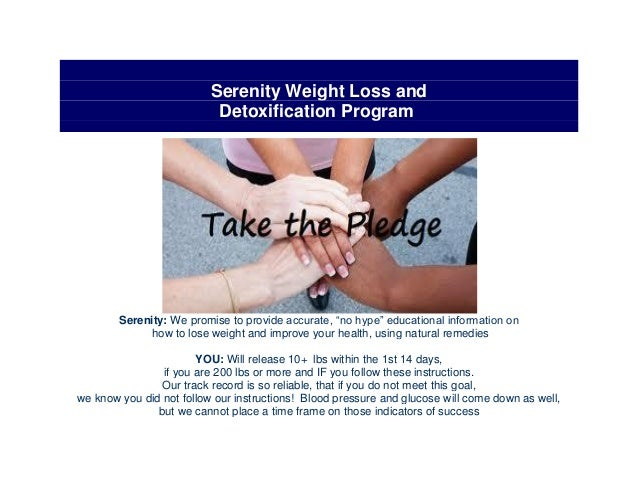"Serenity Weight Loss andDetoxification ProgramSerenity: We promise to provide accurate, ""no hype"" educational information ..."