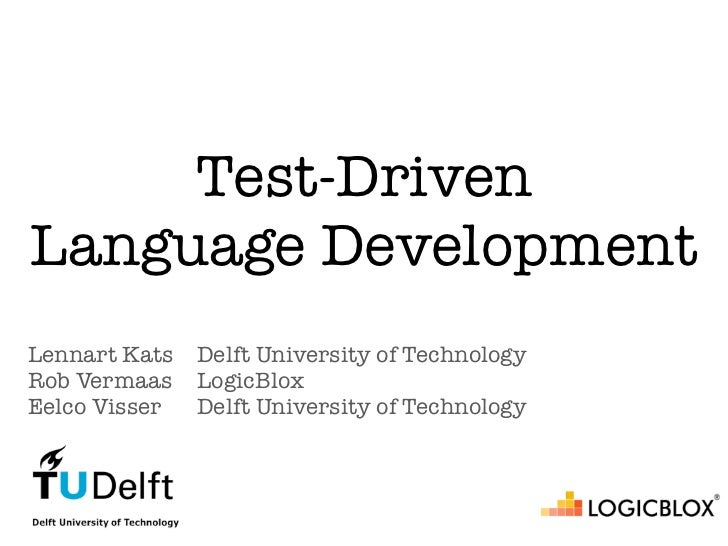 Test-driven language development