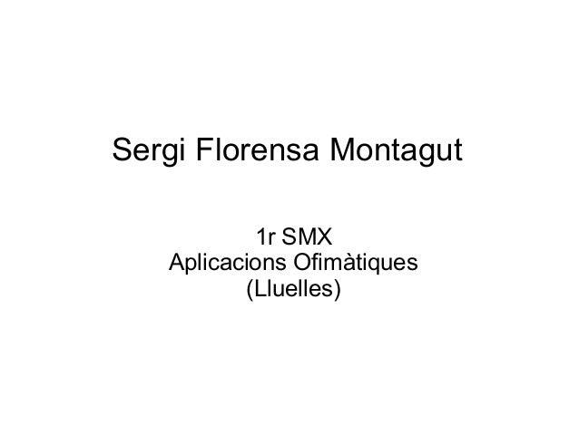 Sergi Florensa Montagut 1r SMX Aplicacions Ofimàtiques (Lluelles)